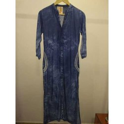 Dark Blue Casual Wear Ladies Denim Kurti