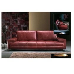 Maroon Leather Sofa Set