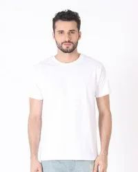 Plain T Shirt - 170-180 GSM White for Men Super Synthetic by Mak Global