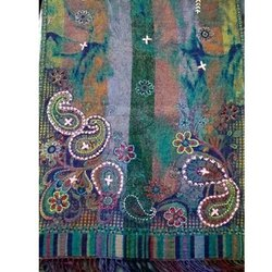 Hand Embroidery Boiled Wool Shawls