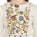 Yash Gallery Womens Cotton Flex Floral Print A-Line Kurta