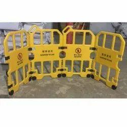Wheel Mounted Plastic Barrier