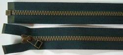 Brown Brass Antique Zipper