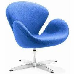 Avecbois Leatherrtte Blue Lounge Chair