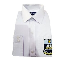 Cotton White Full Sleeve School Uniform Shirts, 22-44, Packaging Type: Packet