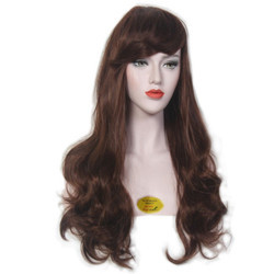Dark Brown Soft & Silky Synthetic Full Head Wig