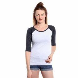 Ladies Cotton Plain T-Shirt