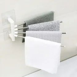 Stainless Steel Towel Rack with Wall Stick Adhesive Pads