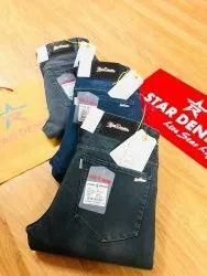 Men Comfort Fit Star Denim Jeans, Age Group: 18-35