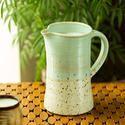 ExclusiveLane Ocean Ombre Ceramic Milk & Water Jug (Studio Pottery)