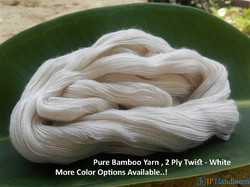 100% Pure Bamboo 2 Ply Yarn