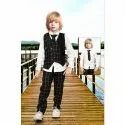 Cotton Party Wear Black Check Kids Pant Shirt, Age: 1 To 10 Year