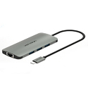 Type-C To 3 Ports USB 3.0 Hub with Gigabit (100/1000Mbps) Ethernet Adapter