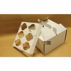 6 Cavity Handle Cupcake Box