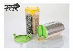 Transparent Plastic Lock Food Storage Dispenser
