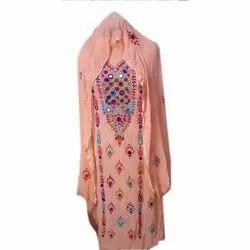 Georgette Party wear Pakistani Phulkari handwork suit
