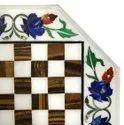 Lapiz Lazuli Marble Stone Flower Inlay Table Top