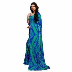Multicolour Bandhani Saree
