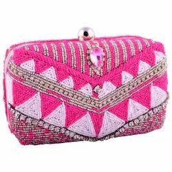Cotton Jaipuri Beaded Bag