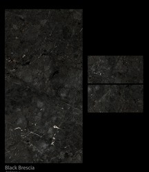Black Brescia Porcelain Tiles