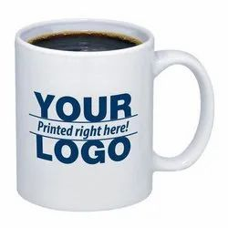 White Ceramic Sublimation Printed Coffee Mugs, For Office, Size/Dimension: 12oz