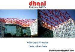 Steel / Stainless Steel Office Entrance Space Frame Structure