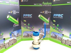 Double Union Brass Ball Valve for Blue PPR Pipe