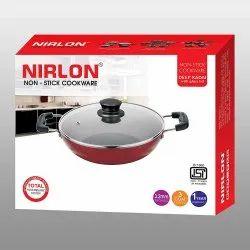 Nirlon Non-Stick Aluminum Kadhai, 3 Litres