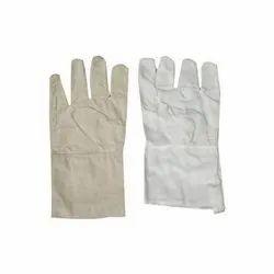 White Cotton Cloth Hand Gloves