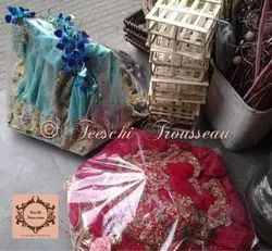 Red Feeschi Decorative Wedding Trousseau Packing
