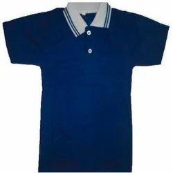 polyester-Cotton Collar Half Sleeves House Colour School T Shirt