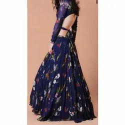 Party S - Xl Ladies Printed Designer Gown