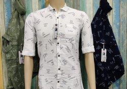 Cotton Collar Neck Mens Premium Shirts, Size: Large
