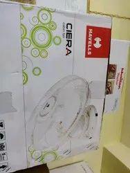 White Havells Fan, Sweep Size: 400mm, Fan Speed: High Speed