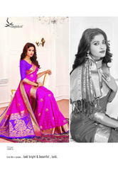 Violet Color Art Pattu Silk Saree
