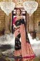 Semi Banarasi Silk Saree in Black