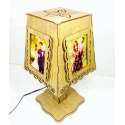 Wooden LED Photo Frame and Lamp