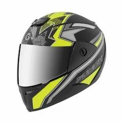 Abs Plastic Full Face Gliders Fusion DLX Decor Helmet, Size: 580MM