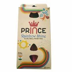 Prince Rainbow Shine Ball Pen, Model Number: P194