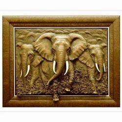 FRP Elephant Head Statue for Interior Decor