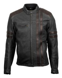 Men Slim Fit Black Leather Jacket