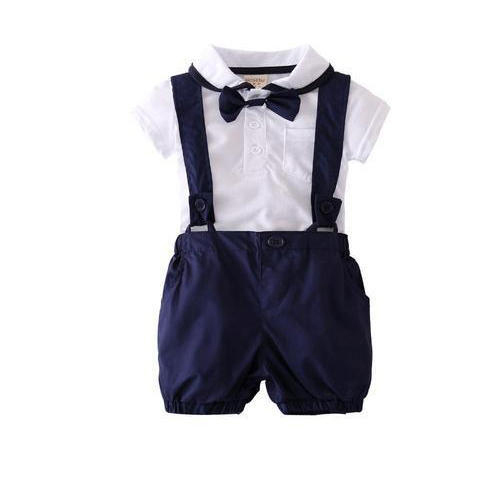 fc9e3e302 White And Navy Blue Party Wear Baba Boy Romper Suits, Rs 500 /piece ...