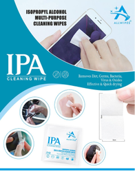 IPA Multipurpose Cleaning Sanitizing Disinfecting Isopropyl Swabs 3x6cm