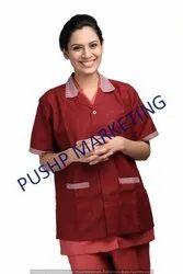 Polyester Unisex Apron Half Sleeves