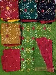 Ladies Casual Wear Bandhani Suit