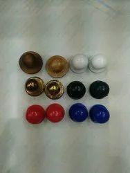Unisex Chef Coat Mushroom Buttons