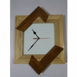 AC02-19 Antiqued Wooden Wall Clock