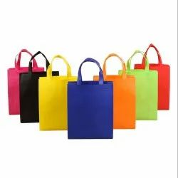 Loop Handle Non Woven Carry Bags, Capacity: 5-10 Kg