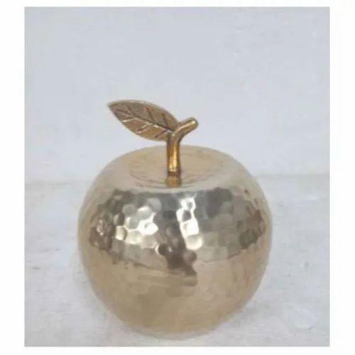 Brass Round Design Container