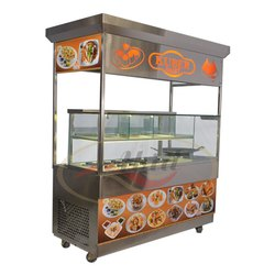 Grey Stainless Steel Chat Stall, For Restaurant